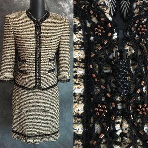new st john couture jacket skirt suit 2 4